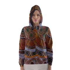 Aboriginal Traditional Pattern Hooded Wind Breaker (Women)