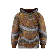 Aboriginal Traditional Pattern Kids  Pullover Hoodie