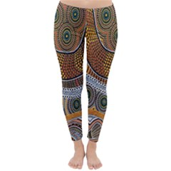 Aboriginal Traditional Pattern Classic Winter Leggings