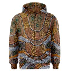 Aboriginal Traditional Pattern Men s Zipper Hoodie