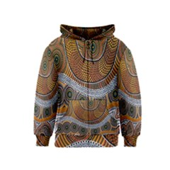 Aboriginal Traditional Pattern Kids  Zipper Hoodie