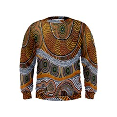 Aboriginal Traditional Pattern Kids  Sweatshirt