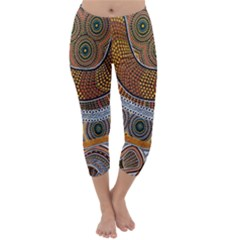 Aboriginal Traditional Pattern Capri Winter Leggings
