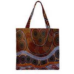 Aboriginal Traditional Pattern Zipper Grocery Tote Bag