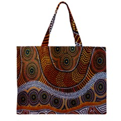 Aboriginal Traditional Pattern Zipper Mini Tote Bag