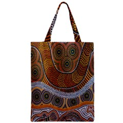 Aboriginal Traditional Pattern Zipper Classic Tote Bag