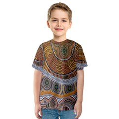 Aboriginal Traditional Pattern Kids  Sport Mesh Tee