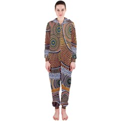 Aboriginal Traditional Pattern Hooded Jumpsuit (Ladies)