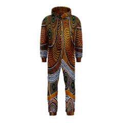 Aboriginal Traditional Pattern Hooded Jumpsuit (Kids)