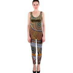 Aboriginal Traditional Pattern OnePiece Catsuit