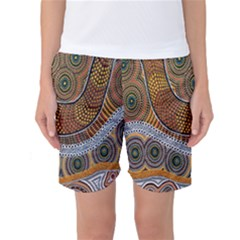 Aboriginal Traditional Pattern Women s Basketball Shorts