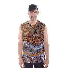 Aboriginal Traditional Pattern Men s Basketball Tank Top