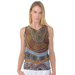 Aboriginal Traditional Pattern Women s Basketball Tank Top