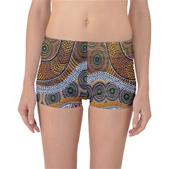 Aboriginal Traditional Pattern Boyleg Bikini Bottoms