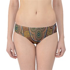 Aboriginal Traditional Pattern Hipster Bikini Bottoms