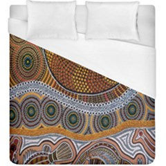 Aboriginal Traditional Pattern Duvet Cover (King Size)