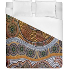 Aboriginal Traditional Pattern Duvet Cover (California King Size)