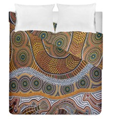 Aboriginal Traditional Pattern Duvet Cover Double Side (Queen Size)