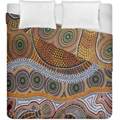 Aboriginal Traditional Pattern Duvet Cover Double Side (King Size)