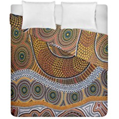Aboriginal Traditional Pattern Duvet Cover Double Side (California King Size)