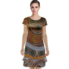 Aboriginal Traditional Pattern Cap Sleeve Nightdress