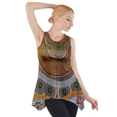 Aboriginal Traditional Pattern Side Drop Tank Tunic