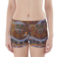 Aboriginal Traditional Pattern Boyleg Bikini Wrap Bottoms