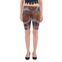 Aboriginal Traditional Pattern Yoga Cropped Leggings