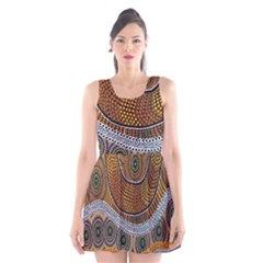 Aboriginal Traditional Pattern Scoop Neck Skater Dress