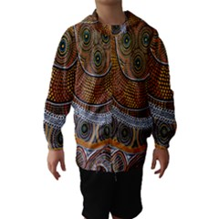 Aboriginal Traditional Pattern Hooded Wind Breaker (Kids)