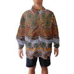Aboriginal Traditional Pattern Wind Breaker (Kids)