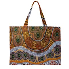 Aboriginal Traditional Pattern Large Tote Bag