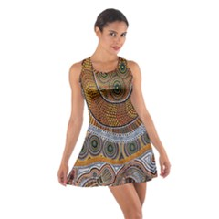Aboriginal Traditional Pattern Cotton Racerback Dress