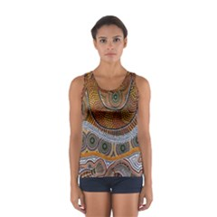 Aboriginal Traditional Pattern Women s Sport Tank Top