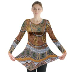 Aboriginal Traditional Pattern Long Sleeve Tunic