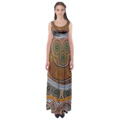 Aboriginal Traditional Pattern Empire Waist Maxi Dress