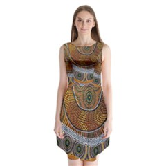 Aboriginal Traditional Pattern Sleeveless Chiffon Dress