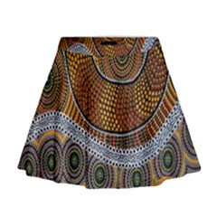 Aboriginal Traditional Pattern Mini Flare Skirt