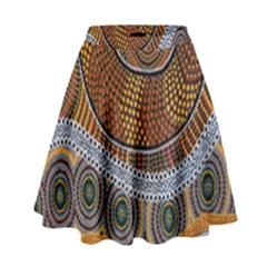 Aboriginal Traditional Pattern High Waist Skirt