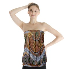Aboriginal Traditional Pattern Strapless Top