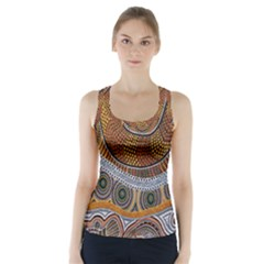 Aboriginal Traditional Pattern Racer Back Sports Top