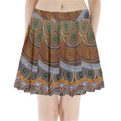 Aboriginal Traditional Pattern Pleated Mini Skirt