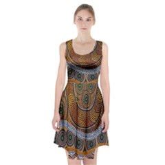Aboriginal Traditional Pattern Racerback Midi Dress