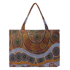 Aboriginal Traditional Pattern Medium Tote Bag
