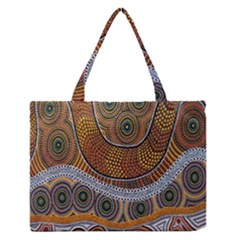 Aboriginal Traditional Pattern Medium Zipper Tote Bag