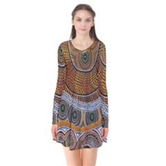 Aboriginal Traditional Pattern Flare Dress