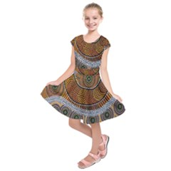 Aboriginal Traditional Pattern Kids  Short Sleeve Dress