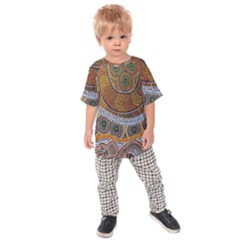 Aboriginal Traditional Pattern Kids  Raglan Tee