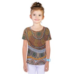 Aboriginal Traditional Pattern Kids  One Piece Tee