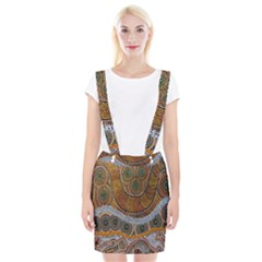 Aboriginal Traditional Pattern Suspender Skirt